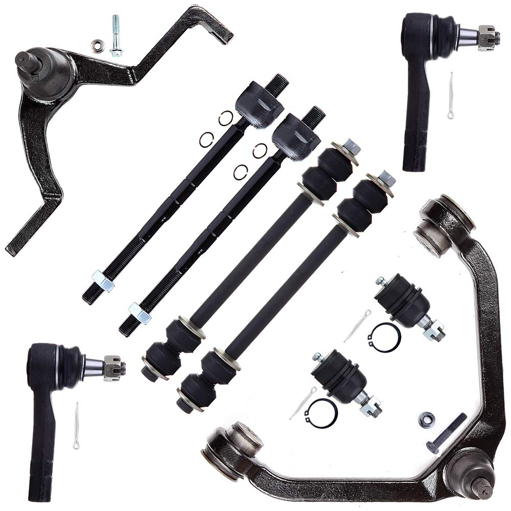 SCITOO 10pcs Suspension 2 Upper Control Arm 2 Lower Ball Joint 2 Outer 2 Inner Tie Rods 2 Front Sway Bar fit 95-01 Ford Explorer 98-03 Ranger 98-01 Mazda B2500 B4000 97-01 Mercury Mountainee