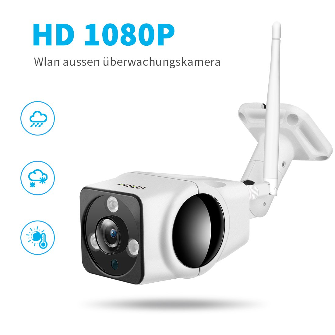IP Kamera 1080P, Webcam Outdoor, INKERSCOOP WIFI: Amazon.de ...