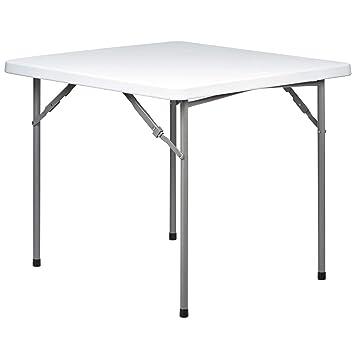 Hartleys Table Pliable Carrée Parfait Pour L Usage A L Intérieur Ou à L Extérieur