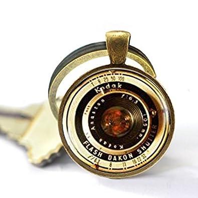 Amazon.com: Vintage lentes de cámara, llavero, fotografía ...