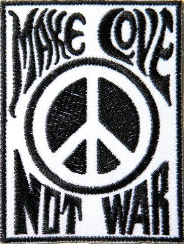 PEACE Sign Symbol Anti War Hippie Retro Biker Tatoo Patch Sew Iron On Embroidered Applique Collection