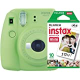 Câmera instantânea Fujifilm Instax Mini 9 Verde Lima + Pack 10 fotos