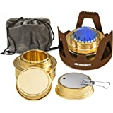 Wealers Camping Portable Aluminum Mini Stove With Brass Alcohol Burner Compact & Lightweight, Backpacking Equipment