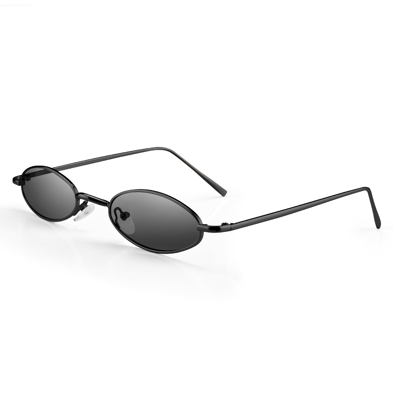 9eb96bd7c8f Amazon.com  PGXT Vintage Slender Oval Super Small Sunglasses For Girls Sexy  Retro Round Tiny Sun (Black frame
