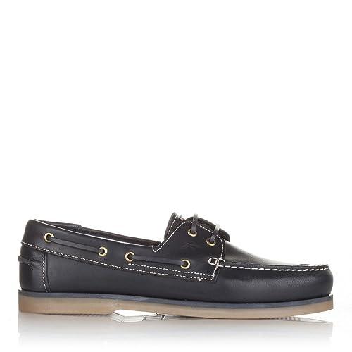 Castellanísimos C01103 Mocasines Náuticos Hombre Piel Con Cordones Color Marino - Color - MARINO, Tallas - 45: Amazon.es: Zapatos y complementos