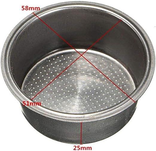 1 Pièce Café 2-cup 51mm non sous Pression Filtre Panier pour Breville Delonghi