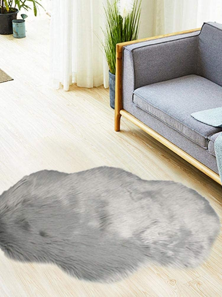 Lotuny Super Soft Living Room Rug,Plum Blossom Solid Color Soft Fluffy Plush Carpet for Living Room Bedroom Nice-Looking Effective