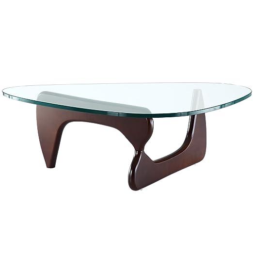 Amazon Com Modway Triangle Coffee Table In Dark Walnut Kitchen Dining