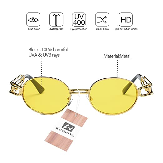 KINDOYO Lunettes de soleil sport unisexes, lunettes de vision nocturne, vision HD, lunettes de soleil anti-vertige, lunettes de soleil non polarisées
