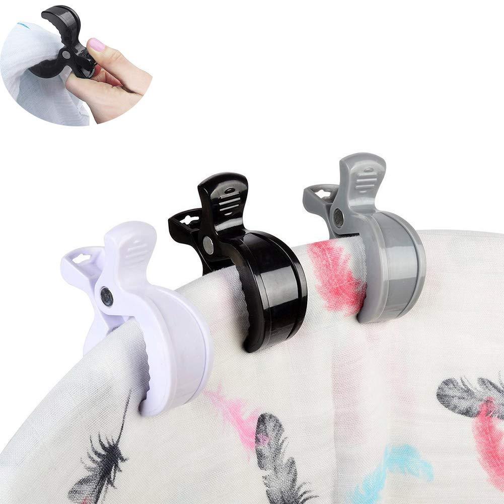 Sac /à Dos Sacs /à Main Queta 8 Clips pour Poussette 2 Crochets Poussette Accessoires pour Poussette Crochets Poussette Multifonction pour Poussette Sacs /à Provisions
