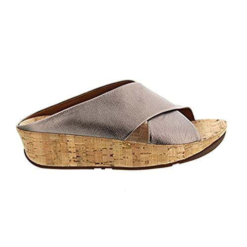 62887c5eed785 FitFlop Women s KYS Leather Slide Sandals Bronze 08.5   Sunscreen Spray  Bundle