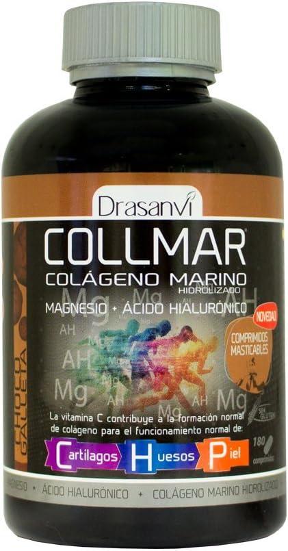 Collmar comprimidos masticables colágeno marino hidrolizado sabor CHOCO-GALLETA: Amazon.es: Salud y cuidado personal