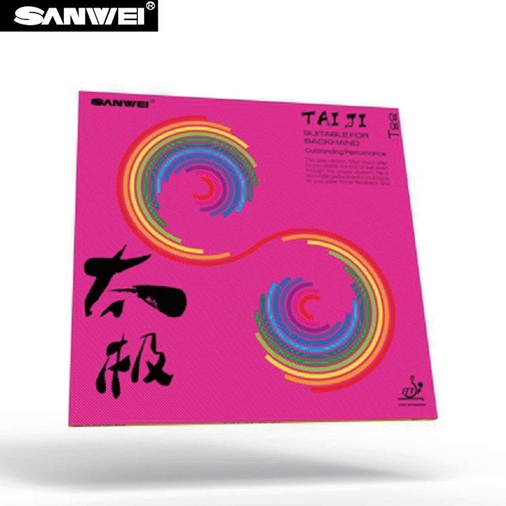 SANWEI T-88 TAIJI suave revestimiento de tenis de mesa TT-combinado con tensión interior 36° negro