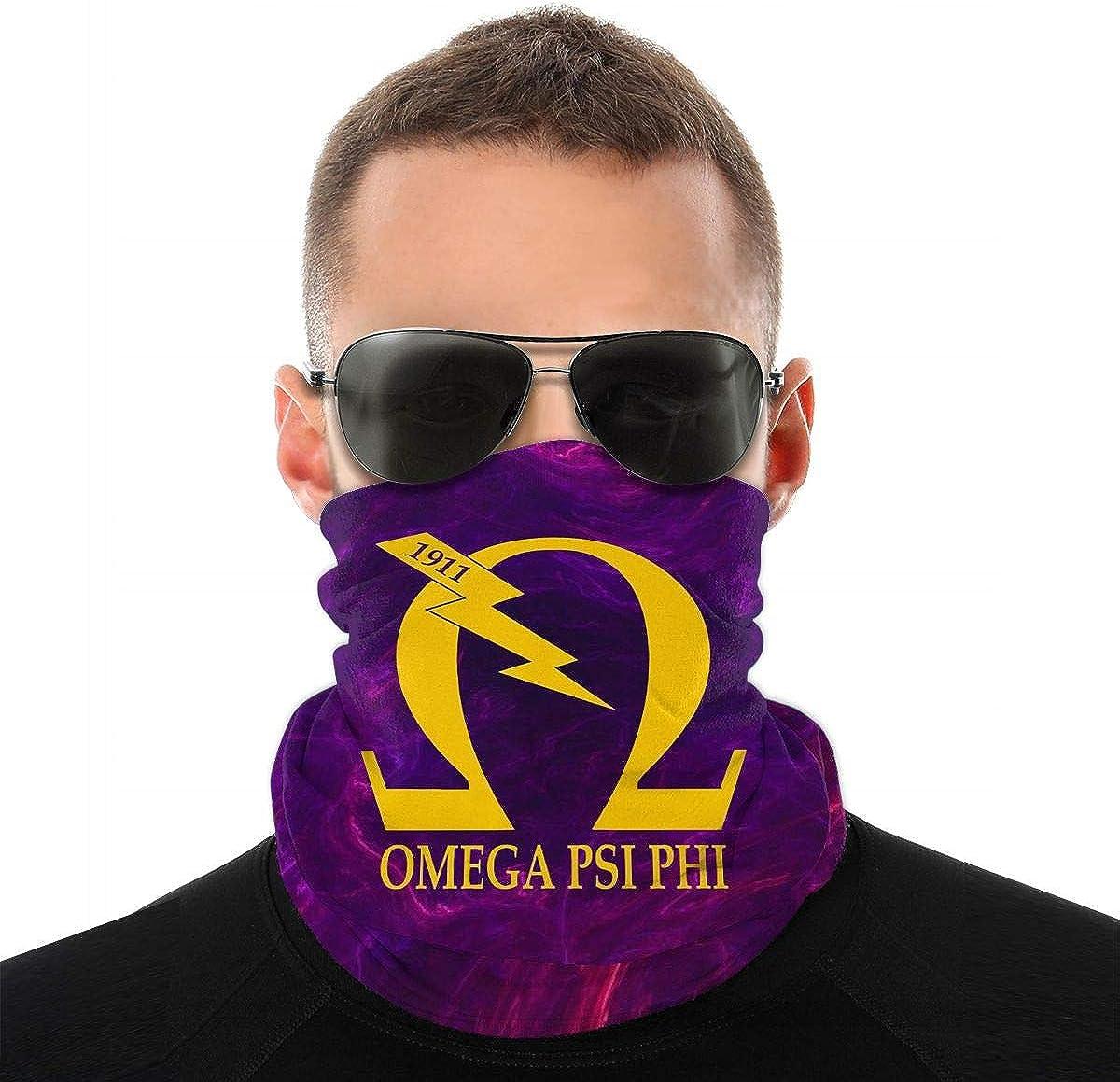 Bandana Face Mask Magic Scarf Headwrap Balaclava Motorcycle Neck Gaiter Outdoor Omega Psi Phi