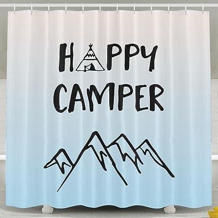 UCustom BESTSC Cortinas de ducha – Camping Mountain Happy ...