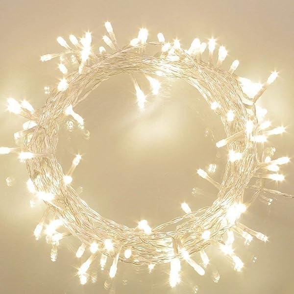 100 LED Guirnaldas Luminosas Exteriores [Temporizador] de Pilas (8 ...