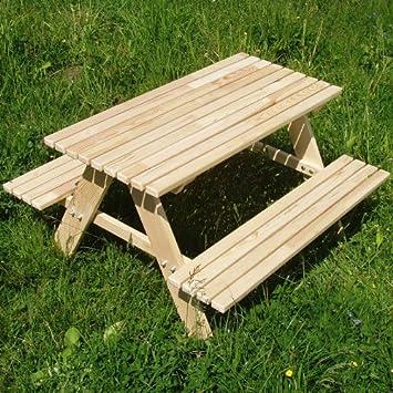 Amazonde Kindersitzgarnitur 4 Sitzer Kinder Sitzgruppe Holz Garten