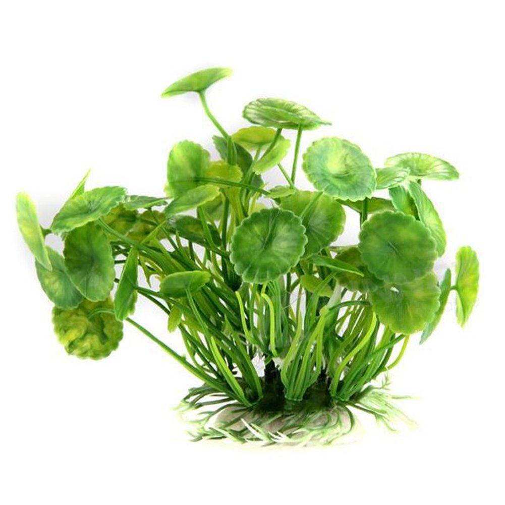 Zhouba artificiale acqua erba foglia di loto pesce tartaruga serbatoio acquario pianta Decor