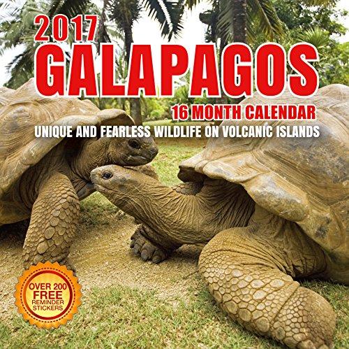 2017 Galapagos Calendar   12 X 12 Wall Calendar   210 Free Reminder Stickers