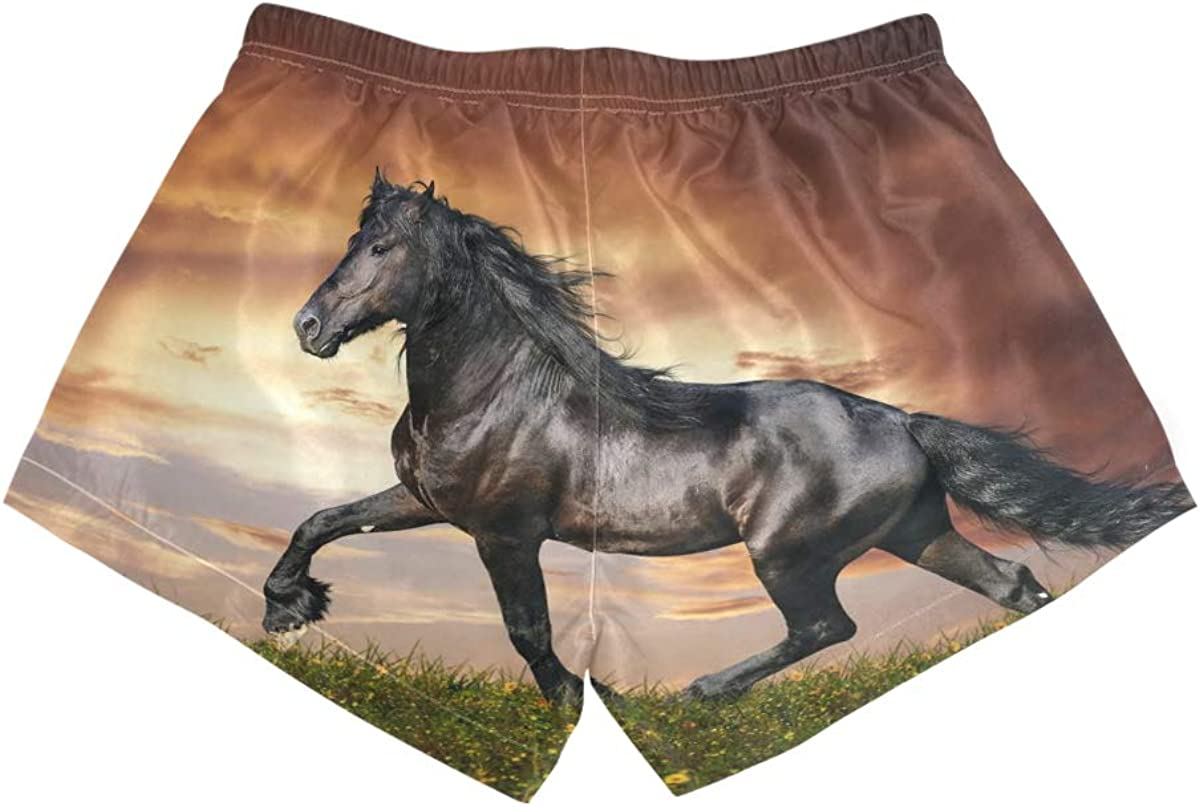 DEZIRO - Bañador para mujer, diseño de caballo negro bajo la ...