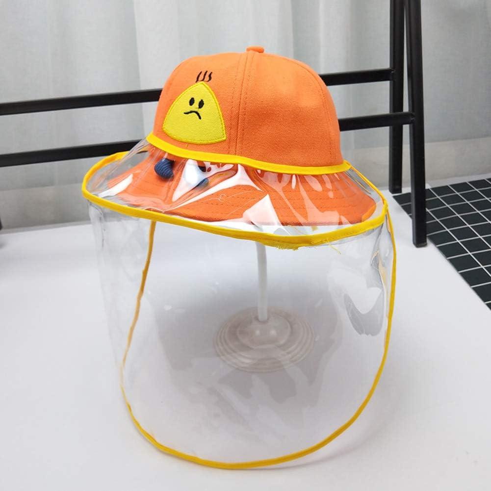 Domybest Cappello da Pescatore Antiappannamento Antispruzzo Cappuccio Protettivo Anti-sputo Anti-Saliva Protezione Facciale con Visiera Rimovibile Cappellino con Visiera Trasparente per Bambini