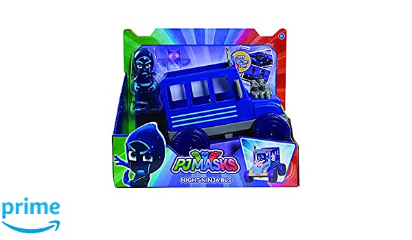PJ Masks Villains Night Ninja Bus Vehicle with Ninja Figure: Amazon.es: Juguetes y juegos