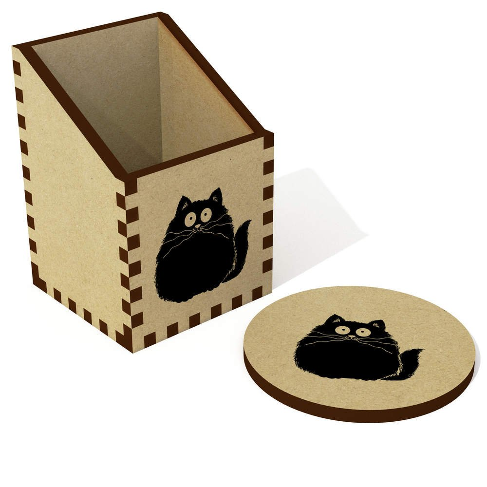 Azeeda 'Fette Katze' Schreibtisch Aufgeräumt / Stiftehalter (DT00066974)