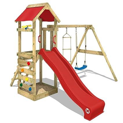 Wickey Parco Giochi Freeflyer Di Legno Per Bambini Con Altalena E Scivolo