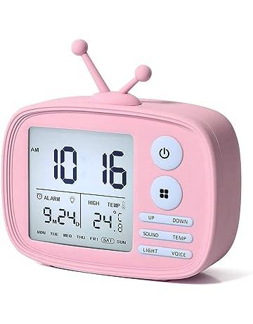 EKOHOME Despertadores Digitales para Niños TV Relojes de Alarma