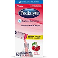 Pedialyte Electrolyte Powder, Electrolyte Hydration Drink Cherry 0.6 Ounce, 3.6 Ounce (Pack of 1)