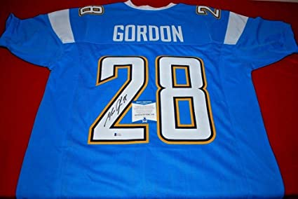 01bc514e Melvin Gordon Los Angeles Chargers Signed Custom Jersey Beckett ...