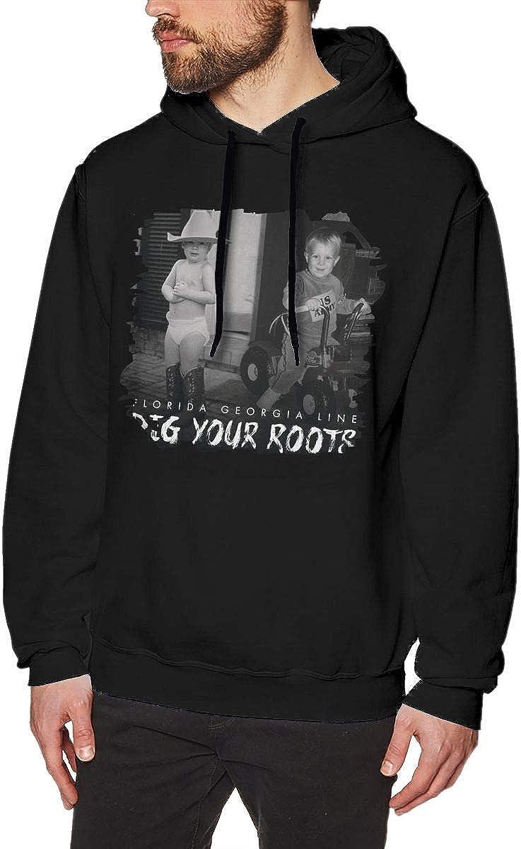Florida Georgia Line Dig Your Roots Mens Comfort Jacket Hoodie Sweatshirt Black