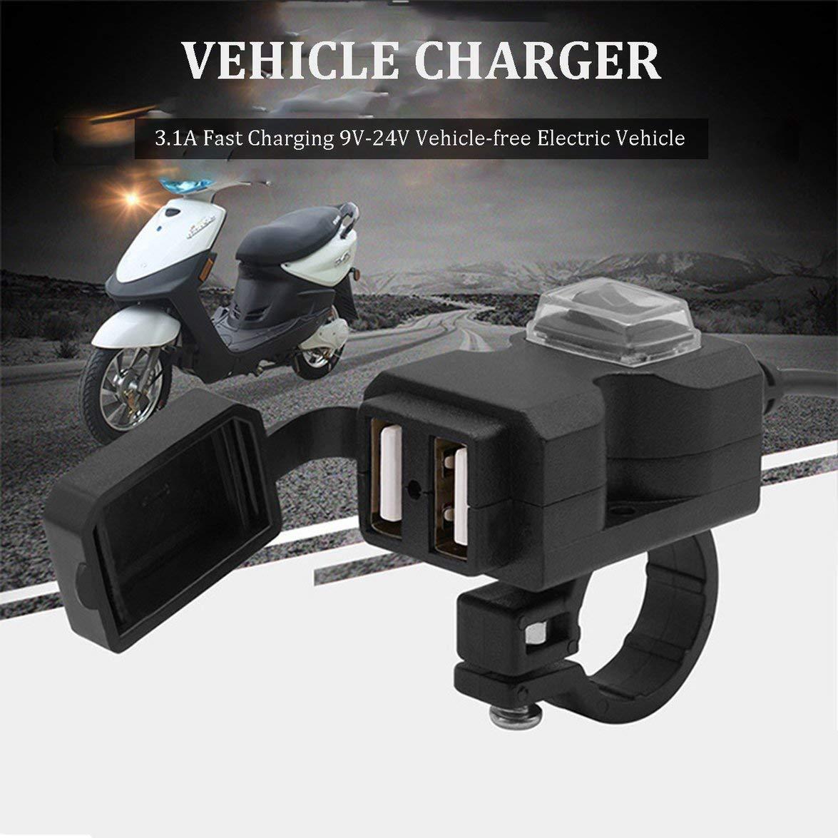 Banbie 9-24V Moto Coche eléctrico USB Teléfono móvil ...