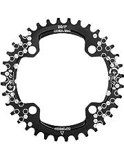 EASTERN POWER Plato Bicicleta Montaña, Plato 104 BCD 32 Dientes 34 Dientes 36 Dientes, Aluminio Platos 32T / 34T / 36T BCD 104 mm, Rojo/Negro