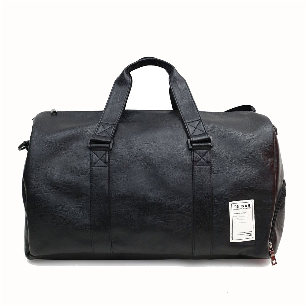 Crystalzhong Travel Duffel Hand Luggage Short Trip Package Travel Bag Large Capacity Pu Shoulder Bag Luggage Sports Gym Bag Weekender Overnight Luggage