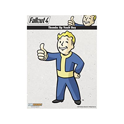 FanWraps Fallout 4 Thumbs-Up Vault Boy Mini PVC Decal: Toys & Games