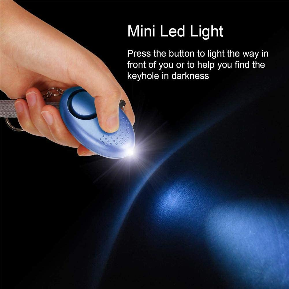 Newideax Personal Alarm Security Alarms Keychain With LED Flashlight Police Approved Mini 130db Self Defence Panic Rape Attack Safety Alarms for Women Kids And Night Walkers