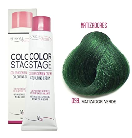 sesioMWorld TINTE EN CREMA COLOR STAGE REF. 099 - MATIZADOR VERDE 100ml
