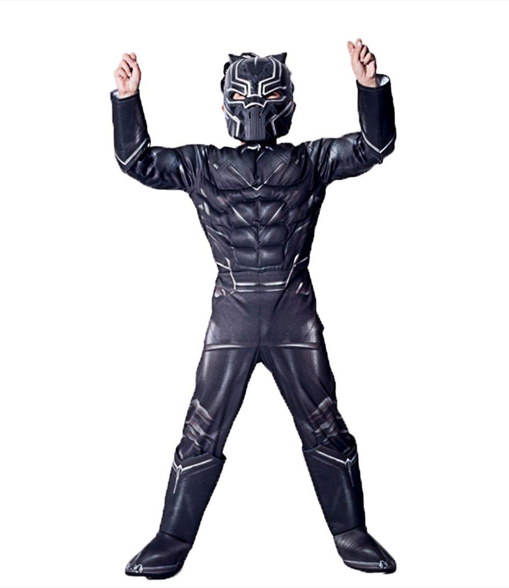 GradPlaza Avengers' Black Panther Cosplay Children's Halloween Role Play Costume Set