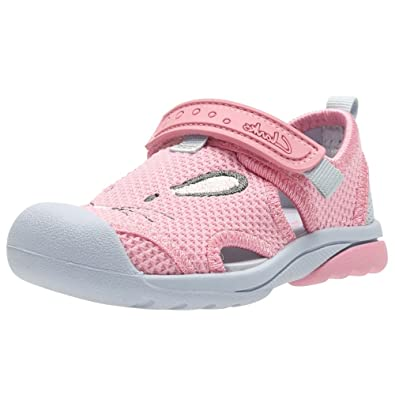 879df9326 Clarks Beach Molly Girls First Pink Summer Shoes 7.5 F Baby Pink Patent