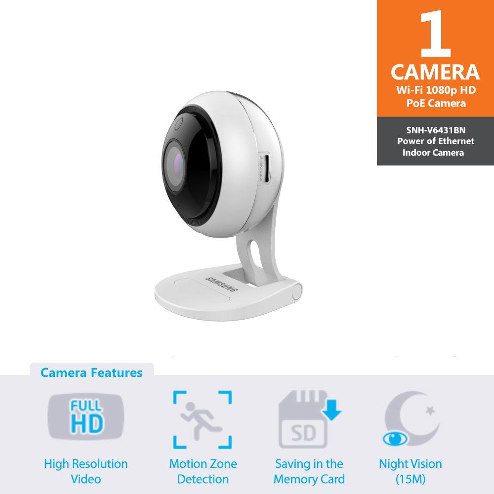 Samsung Wisenet SNH-V6431BN 1080P Full HD Wi-Fi Smartcam