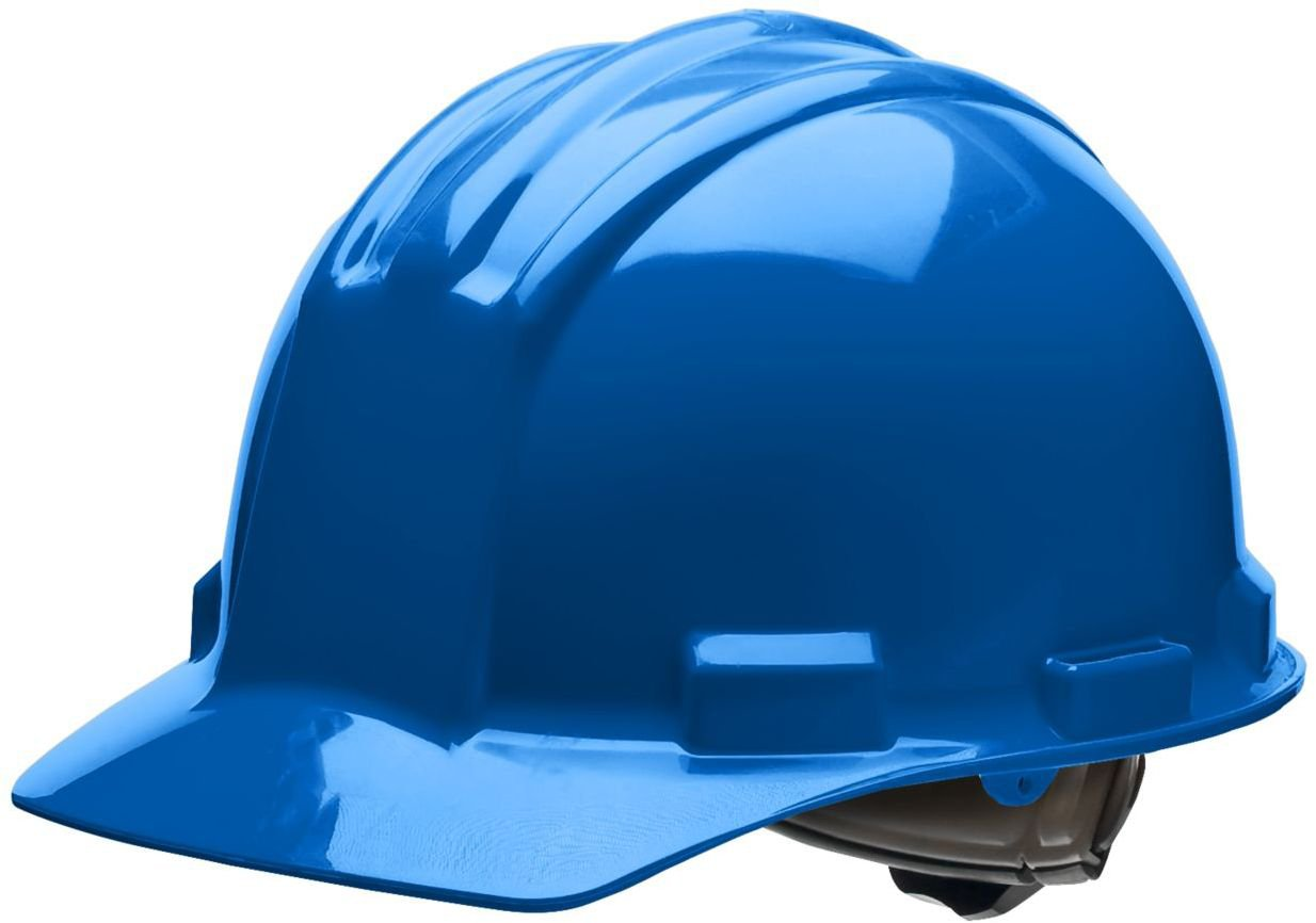 Vinyl Brow Pad Pacific Blue 4 Point Ratchet Suspension One Size Bullard 51PBB Standard Series Cap Style w//Rain Trough