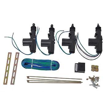 outgeek power door lock actuator kit 2 wires \u0026 5 wires auto locking