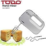 TODO Electric Hand Mixer Beater 3 Speed Whisk Cake Mixer Kitchen Utensil White Black