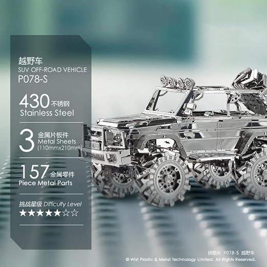 MQKZ Vehículo Todoterreno SUV 3D Tridimensional montado en Metal ...