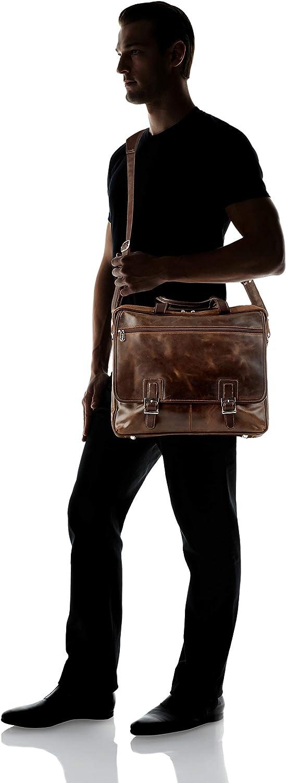 Piel Leather Vintage Business Case One Size Vintage Brown
