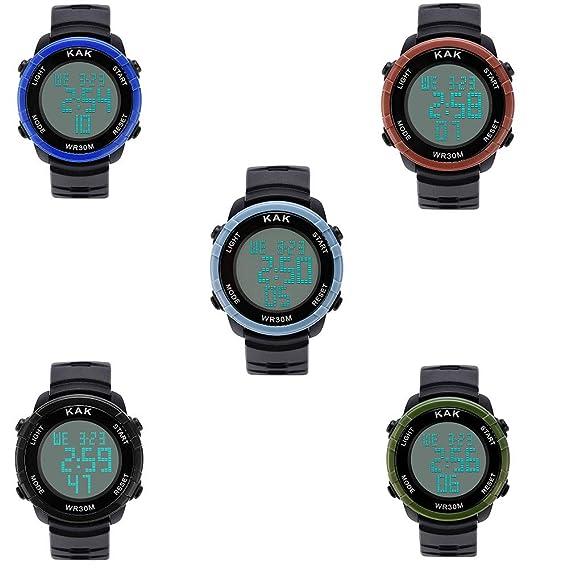 Linowi Men Digital Sport Relojes multifunción Relojes de Pulsera ...