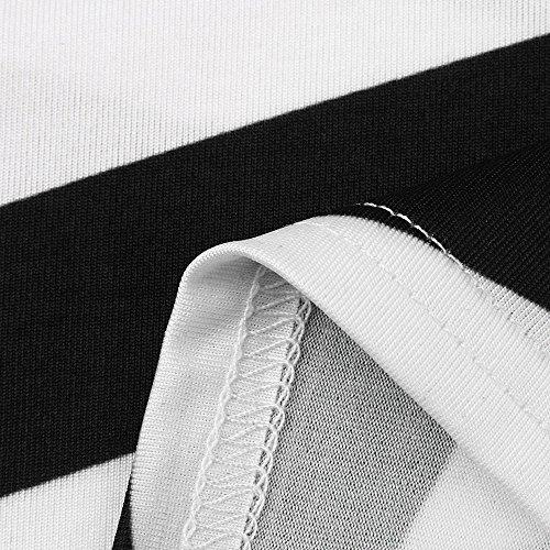Vestido Mujer Vestido Sexy Fiesta Túnica 2018 Negro Mujeres Elegante Camisa Vestido Corto Vestidos a de Vestidos Mujer CasualMini Playa para Rayas Vestir de Verano Ropa 7q8wAXd