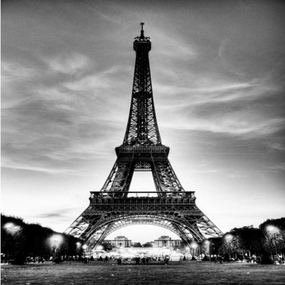 Amazon Com Xbwy Glitter Wallpaper Black White City Building Paris Eiffel Tower Walls 3d Flooring Marble Vinyl Vintage 280x200cm Furniture Decor