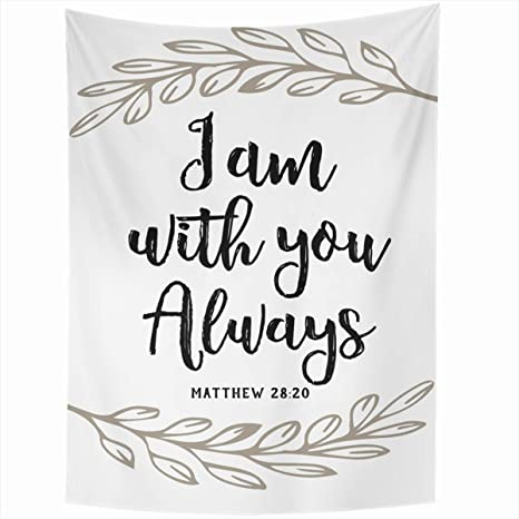 Ahawoso Tapestry Wall Hanging 50x60 Inches Faith Verse I You Always Bible Worship Christian Accent Jesus Scripture God Design Words Home Decor Tapestries Art For Living Room Bedroom Dorm by Ahawoso